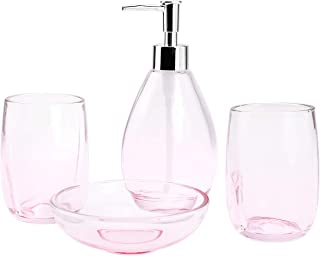 exciting red bathroom accessories sets | Amazon.com: Pink - Bathroom Accessory Sets / Bathroom ...