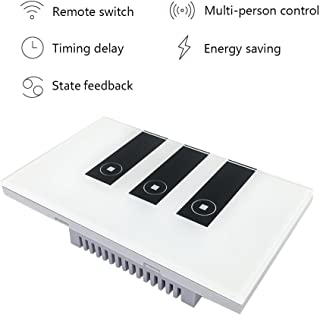 Faryuan Smart Wi-Fi Touch Panel Wall Switch Remote Control Timing Function with Smartphone Compatible with Alexa (three way switch)