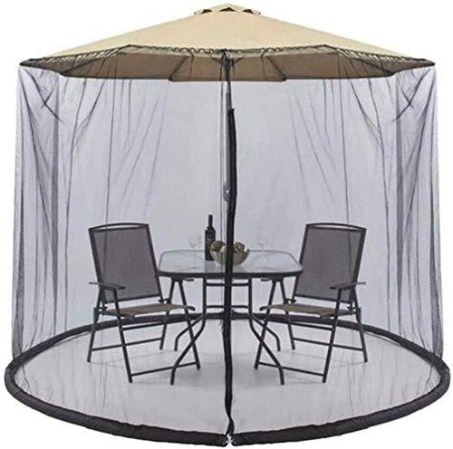 Outdoor Umbrella Patio Umbrella Mosquito Net Cover, Outdoor Garden Umbrella Parasol Mosquito Net Bug Netting Cover Table Mesh Screen (Color : White) (Color : White)