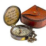 """Calyron Brass 2.75"""" Pocket Magnetic Compass with Chain Nautical Boat Decor Antique Steampunk"""