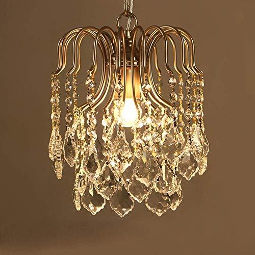 Lámpara de techo americana pequeña lámpara de cristal francés pasillo araña restaurante pasillo dormitorio pórtico lámpara de techo (30 x 30 x 35 cm) decoración