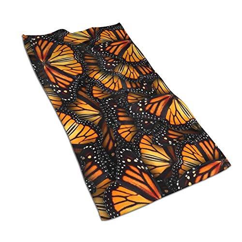 antoipyns Heaps of Orange Monarch Butterflies Kitchen Towel Custom Hand Towels Absorbent Printed Dish Towels Microfiber Gym Towel Tea Towel Fingertip Towel 27.5x15.7in