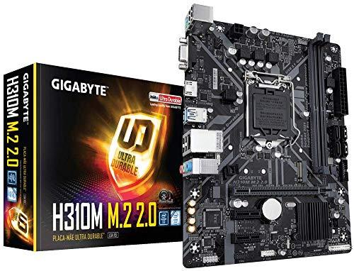 GIGABYTE H310M M.2 2.0 (LGA1151 Intel H310 Micro ATX DDR4 HDMI 1.4 M.2 Motherboard)