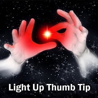 Set of 2 Magic Rubber Thumb Tip Light Up RED Flashing Close Up Real Finger Trick