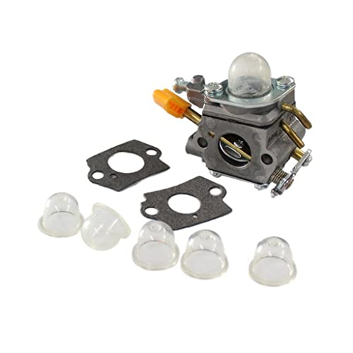 HURI Carburetor with Gasket Primer Bulb for Ryobi RY28020 RY28040 CS26 Homelite UT-20004-