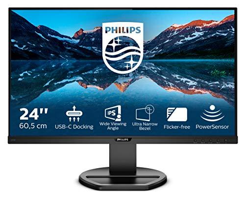 Philips 243B9 60 cm (23.8 Zoll) Monitor (HDMI, Displayport,USB-C, USB Hub, 1920 x 1080, 75 Hz, FreeSync, 4 ms Reaktionszeit) schwarz