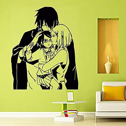 fdgdfgd Naruto Sakura Sasuke und Vinyl Wandaufkleber Home Wohnzimmer Dekoration warm glücklich Mode Wandaufkleber 89x109cm