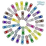 Matogle Cierre de Hebilla de Plástico 30mm Mini Hebillas de Colores para Manualidades Ajustables Hebillas para Mochilas Pequeños Collar de gatos Pulseras Manualidades...
