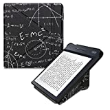 kwmobile Funda Compatible con Kobo Libra H2O - Carcasa magnética de Origami para e-Book - física Blanco/Negro