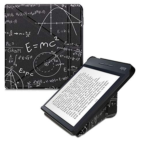 kwmobile Carcasa Compatible con Kobo Libra H2O - Funda magnética de Origami para e-Book - física Blanco/Negro
