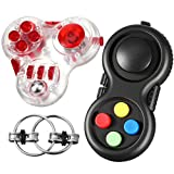 Skylety 3 Pieces Fidget Toy Set Including Anxiety and Stress Relief Fidget Toy Fidget Controller Pad Cube Flippy Chain for Autism Stress and Anxiety Relief
