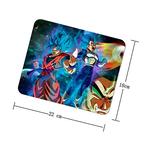 Spiel Mauspad Büro Mauspad Gaming Oberfläche Maus rutschfeste Matte, Quadrat Mauspad, Dragon Ball Goku Super Saiyajin Anime Art Cg Artwork Fiktion Fiktionale Figur, 9x7 Zoll