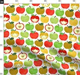 Aug2016apples, Apfel, Puppe, Küche, Schule Stoffe -