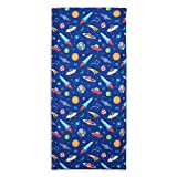 Wildkin 100% Cotton Kids Nap Mat Cover for Boys & Girls, Sewn-in Flap Pillowcase Design Rest Mat Cover, Fits Our Vinyl Nap Mat up to 1.5 Inches Including Basic Sleep Mat, BPA-Free(Out of This World)