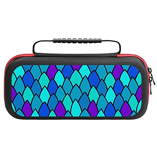 Reptile Skin Texture Printed Carrying Case Storage Bag For Nintendo Switch Lite & Accessories Travel Portable
