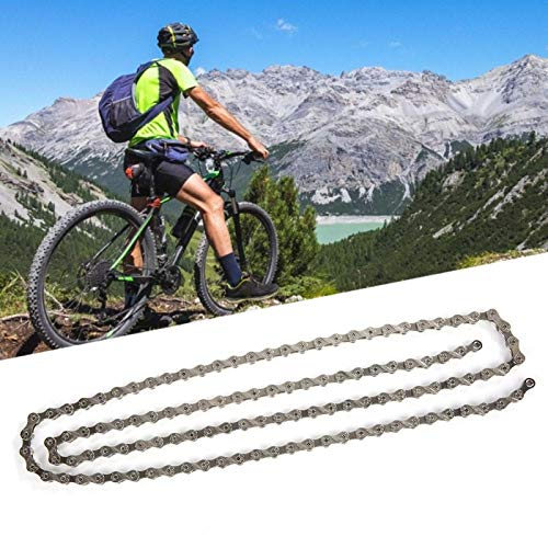 Jacksing Stretch-proof F10 / F90 Bicycle Chain, Aluminium Alloy Wearable Bike Chain Replacement, for Road Bike(F10)