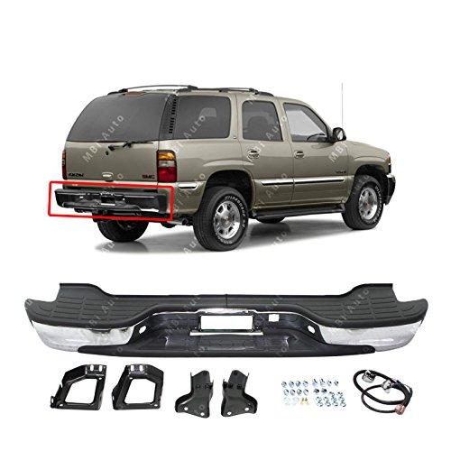 00-06 Chevy Suburban Tahoe GMC Yukon XL 1PC Matte Black S//S Rear Bumper Step