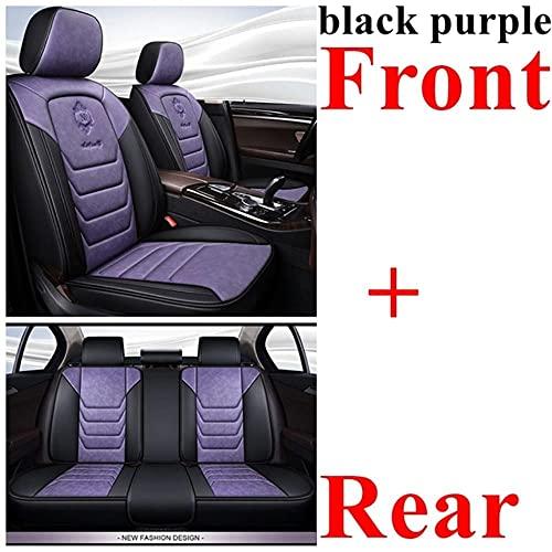 0beilita Fundas Asientos Coche Universales para BMW E30 E34 E36 E39 E46 E60 E90 F10 F30 X3 X5 X6 X1 530I Accesorios Coche, Negro Purplestandard