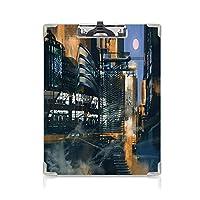 カスタム クリップボード クリップファイル 未来 事務用品の文房具 (2個)デジタルペイントサイエンスフィクション都市景観建築サイバーパンクテクノロジーブラックオレンジブルー
