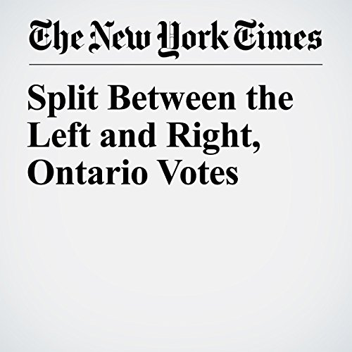 Split Between the Left and Right, Ontario Votes copertina