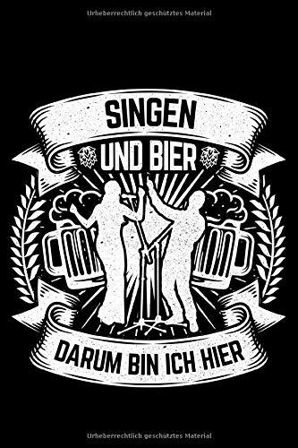 Singen Und Bier Darum Bin Ich Hier: Jahreskalender für das Jahr 2020 Din-A5 Format Jahresplaner