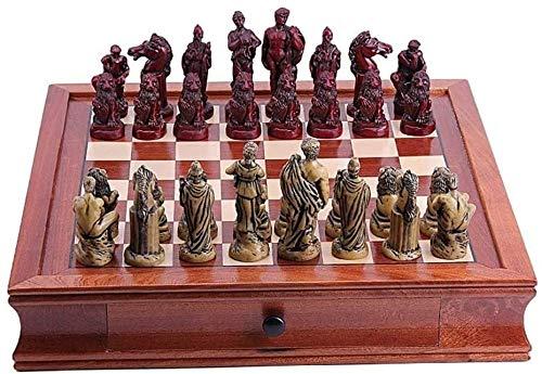 Ajedrez para tablero harry potter juegos Ajedrez Decoración del hogar Madera + resina Ajedrez Educativo Juguete de ajedrez conjunto de ajedrez Decoraciones de escritorio para el hogar, 2 opcional ADVC