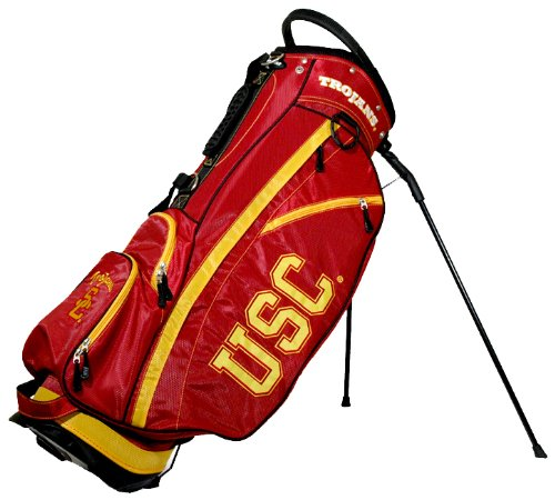 Affordable Team Golf NCAA USC Trojans Fairway Golf Stand Bag, Lightweight, 14-way Top, Spring Action...