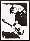 Poster Kurt Cobain Nirvana Grafiti Hecho a Mano - Handmade Street Art - Artwork