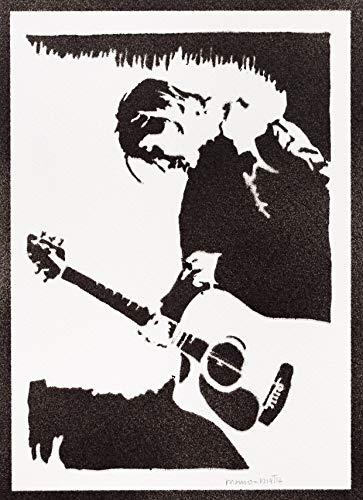 Póster Kurt Cobain Nirvana Grafiti Hecho a Mano - Handmade Street Art - Artwork