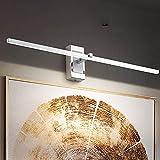 110V-220V DIRIGIÓ Espejo claro baño moderno estrecho lateral ruido de espejo, luz de maquillaje blanco 4000k neual, IP44 Lámpara de espejo de baño a prueba de agua Lámpara de pared anti antiecla, crom