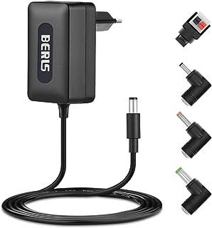 BERLS Bloc d'alimentation Chargeur Adaptateur Secteur 12V 2A 24W avec 4 Connecteurs..
