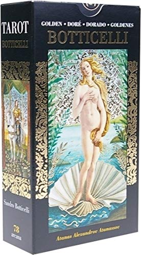 Golden Tarot of Botticelli: 78 full colour Tarot Cards with Gold Foil Impressions