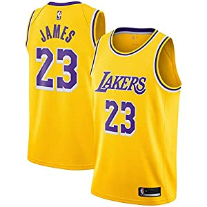 OuterStuff Lebron James Los Angeles Lakers #23 Yellow Youth Icon Edition Swingman Jersey (Large 14/16)