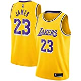 nba jersey kids - OuterStuff Lebron James Los Angeles Lakers #23 Yellow Youth Icon Edition Swingman Jersey (Large 14/16)
