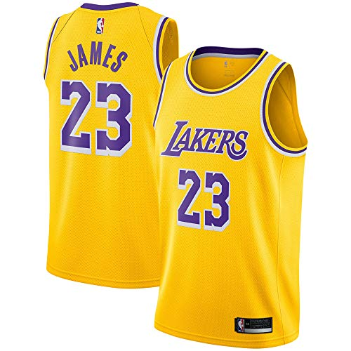 Lebron James Los Angeles Lakers #23 Yellow Youth Icon Edition Swingman Jersey (X-Large 18/20)