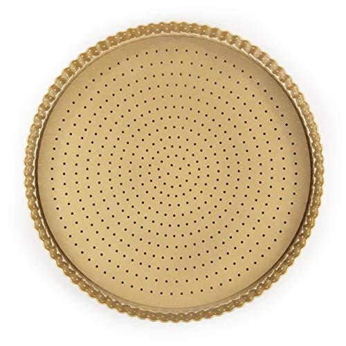 ROSMARINO Teglia Antiaderente Rotonda 32 cm - Teglia Microforata per Pizza, Crostata e Torta