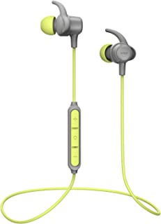 Bluetooth Headphones WRZ S8 Wireless Stereo Magnetic in Ear Earbuds Mic IPX6 Waterproof Sport Running Gym Travelling 10 Hrs Playtime Bluetooth 5.0 for iOS Android Cell Phones(Grey Green)