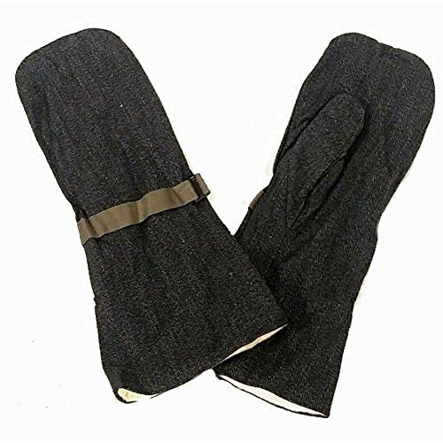 Handschoenen, zout en peper jaren 50 nieuw Zwitsers leger 1 paar universele maat