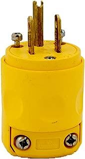 Leviton 515PV 15 Amp, 125 Volt, Grounding Plug, Yellow