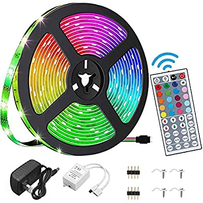 Amazon - Save 50%: YEYEE Led Strip Lights Waterproof 16.4ft 5m Flexible Color Changing R…