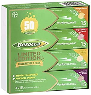 Berocca Performance Effervescent Tablets 60 Count Limited Edition Celebration Pack