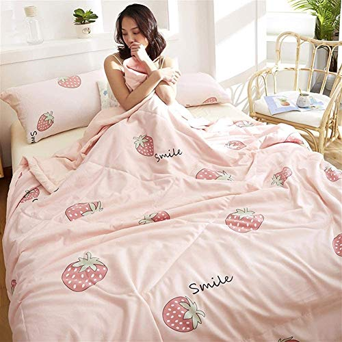 Washable Duvet Single/Double/King Softness Quilt Comforter Throws For Sofa Bed Blanket Throw Microfiber Anti-acarian Lightweight 100% Cotton Heart Forest B (Color : B, Size : King)
