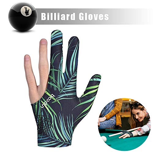 MHOYI Billardhandschuhe Snookerhandschuhe Linkshänder, 3-Finger-Billardpool Snooker Queuehandschuhe Billardzubehör, Links/rechts universal (1 Stock)