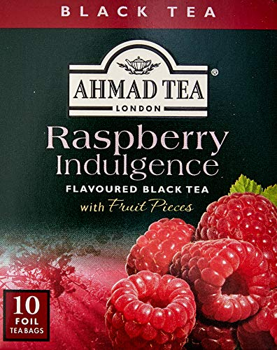 Chá Preto Raspberry Indulgence Ahmad Tea London 10 Unidades de 20g
