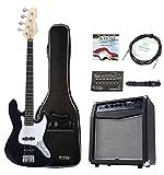 Rocktile Fatboy II Bass Starter Bundle Nero - Kit Basso elettrico nero
