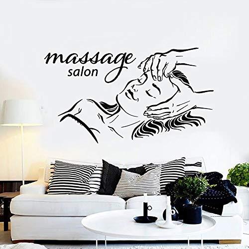 Cara de mujer tatuajes de pared spa belleza salón de masajes fitness chica tiempo de relajación decoración de interiores puerta ventana vinilo adhesivo arte mural