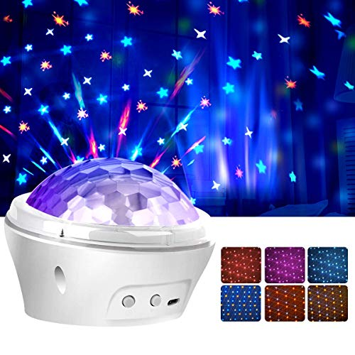 Sternenhimmel Projektor Lampe für Kinder, Amouhom Baby Stern Nachtlichtprojektor für Schalfzimmer mit Timer&4 Modi beste Geschenke für Kinder/Erwachsener
