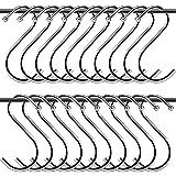 Gancho Metal Forma de S,20 Pcs Gancho en Forma de S,Metal Acero Inoxidable...
