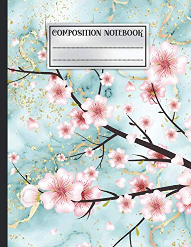 Composition Notebook: Wide Ruled Lined Paper Notebook Journal for Girls, Boys, School/College Students, Teachers and Any Age Adults - Liquid Marble, ... - 8.5