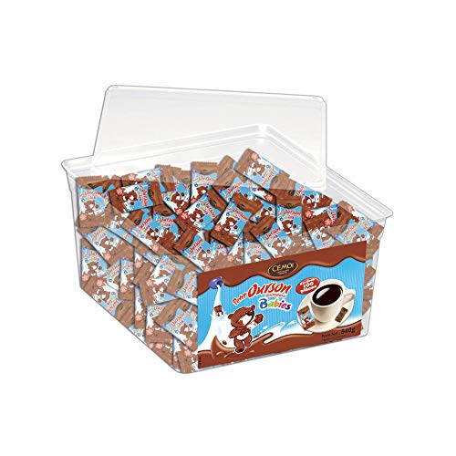 Cémoi Tubo Ingrédient de Cuisine Petit Ourson Babies Environ Guimauve/Chocolat au Lait 100 Pièces 540 g